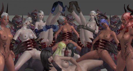 3d elfs and monsters fuck passionately