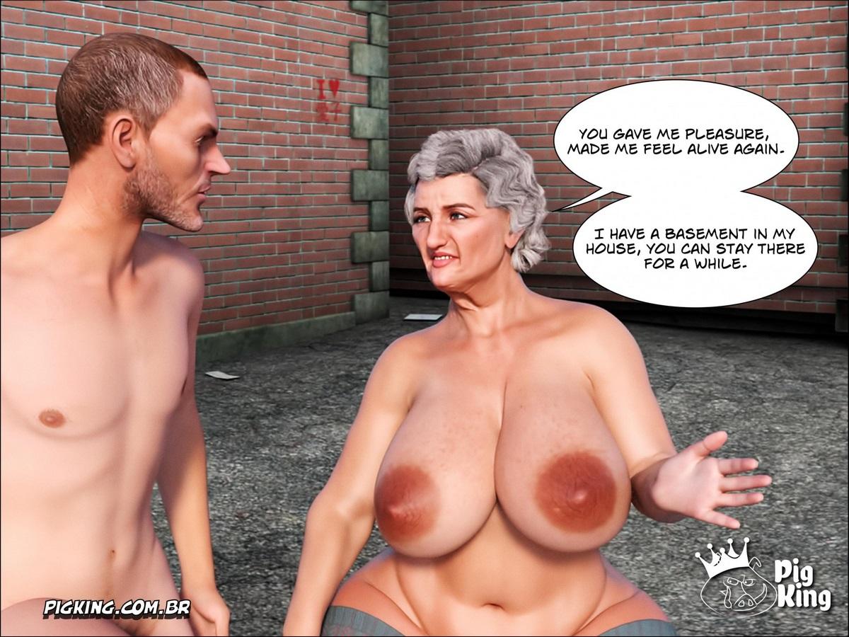 old woman cartoon porn