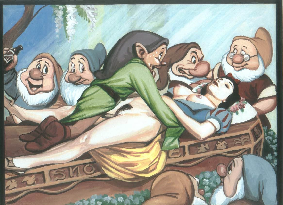 snow white and the seven dwarfs cartoon porn